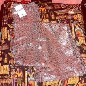 NWT Silver Sequin Flares